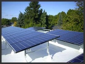 Solar Panels on the Historic Kenton Firehouse