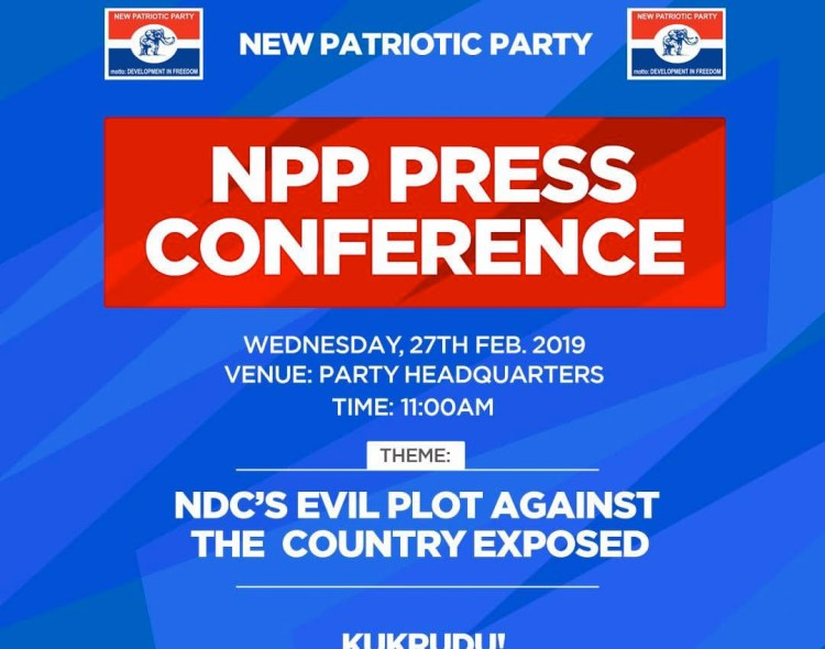 PRESS STATEMENT BY THE NEW PATRIOTIC PARTY