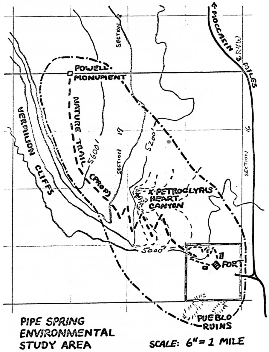 Map showing proposed kaibab paiute tribe land exchange