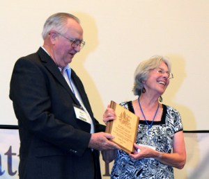 Ron Loper presents Jane Crone with the Fellows Award for 2011