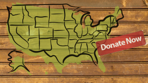 Donate Now on US Map