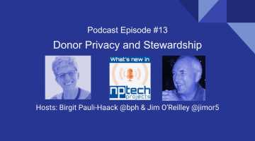 Episode #13: Donor Privacy and Stewardship