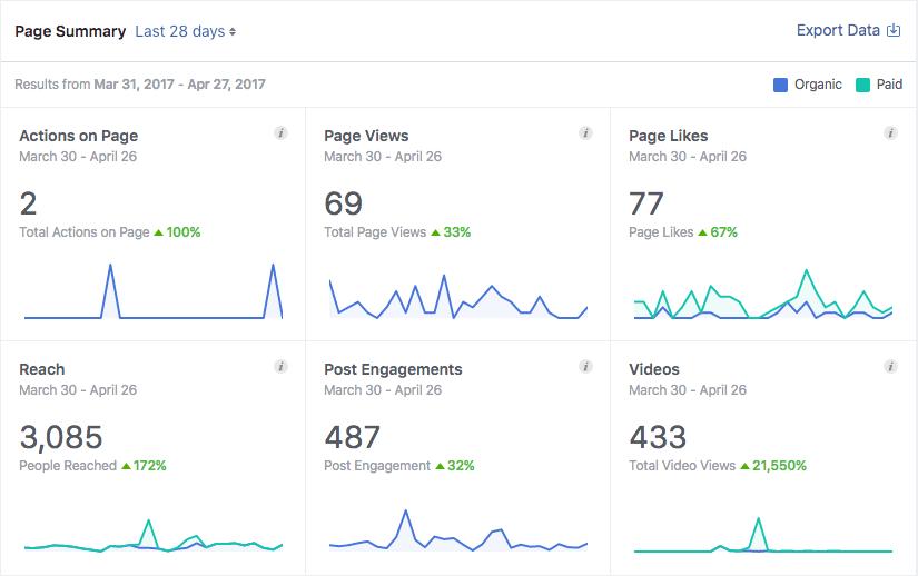 Facebook Insight Screenshot