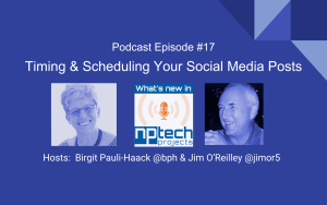 Cover Episode 17: Timing scheduling social media posts