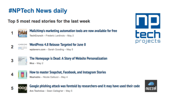 Top 5 most read stories – Daily #NPTech News via @Nuzzel