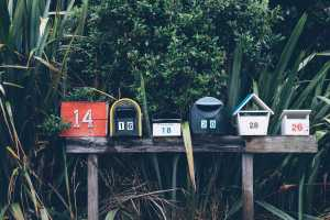 Mailboxes street side - photo by Mathyas Kurmann, found on Unsplash