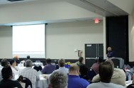 Colin Miyadi from USA North 811 educates the attendees about USAN's one-call procedures.