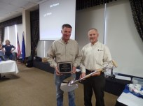 Left to right: Richard Gill, Lakeside Excavating, and Mike Moody, Southwest Gas.