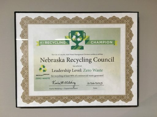 NRC Recognized as a Zero Waste Facility