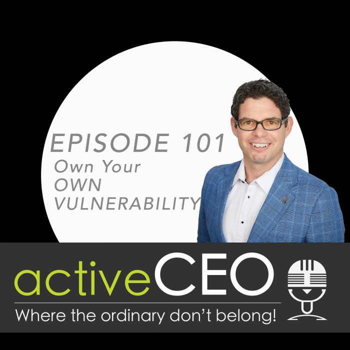 active CEO Podcast Craig Johns Own Your Own Vulnerability Breaking The CEO Code High Performance Leadership