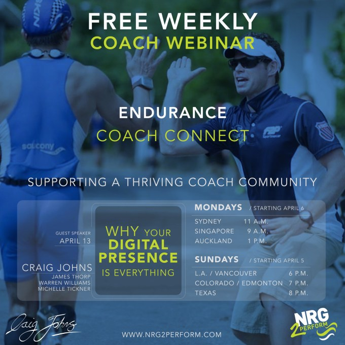 Endurance Coach Connect Craig Johns Why Your Digital Presence Is Everything