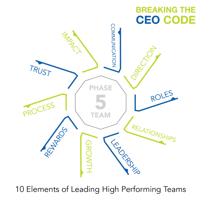 Breaking The CEO Code Craig Johns Phase 5 TEAM - 10 Elements of Leading High Performing Teams