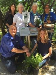 NRG Garden Group Committee t-l: Deanna Whaley, Melissa Bucuk, Kat Watts-Martinez, Cara Harpole b-l: George Griffith, Darien Clary