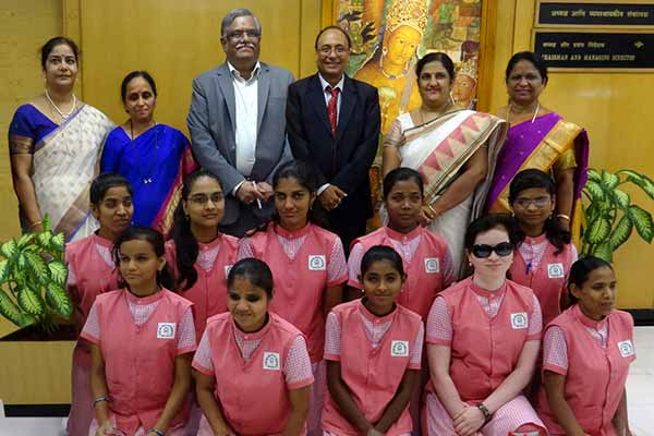 Bank of Maharashtra felicitates visually impaired girls under CSR in Swashakti Forum