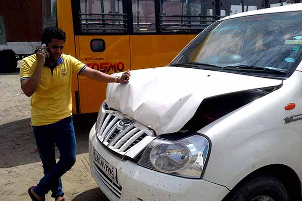 TV news anchor and actor Ekaansh Bhaardwaaj met with an accident near Alwar in Rajasthan