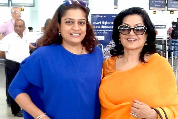 Moushmi Chatterjee and Ekta Jain were seen at airport