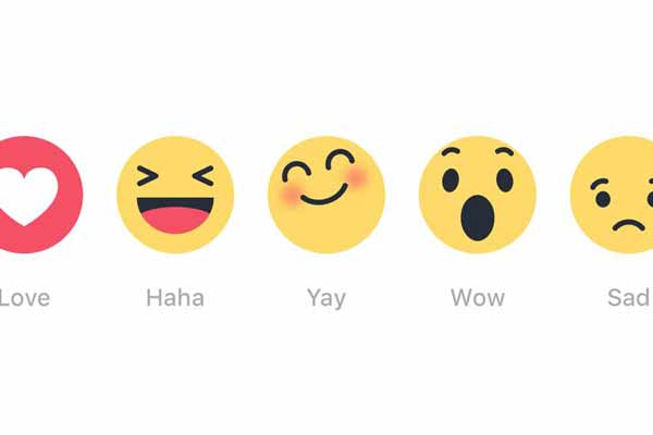 Use of Facebook's new 'emoji reactions'; USA Today just made use with gonzo style