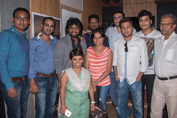"Muhurt of ""TALIM"" done with song recording of ""Talim Rangu De…"" by Adarsh Shinde"