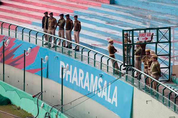 Protests continues as two-member Pak team reviews security at Dharamsala for ICC World T20