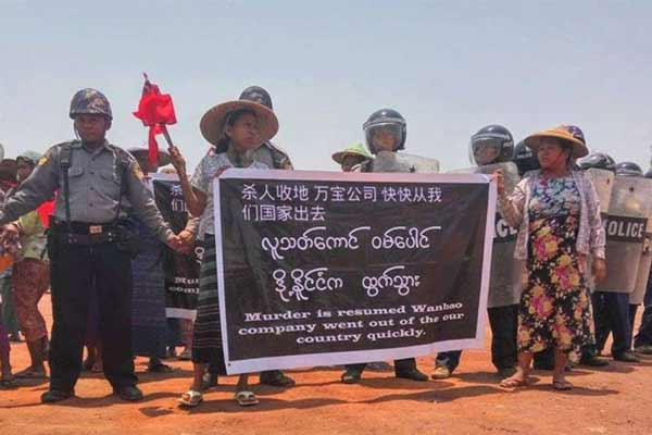 Flashpoint Chinese-backed mine; Protests buildup in Myanmar