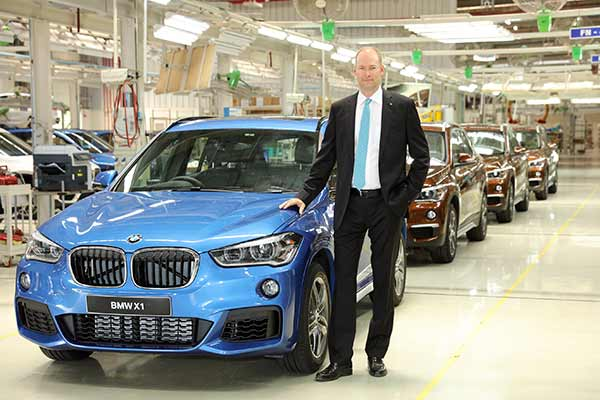 The all-new BMW X1 rolls out of BMW Plant Chennai