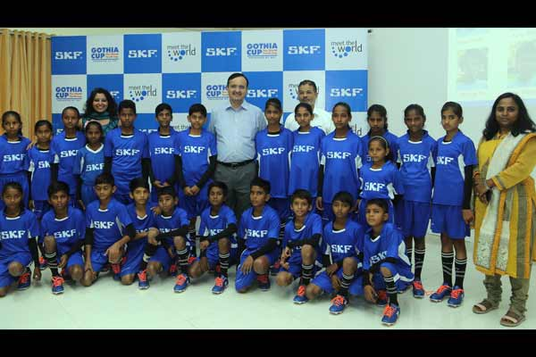 SKF India sports education program's children gear up for Gothia Cup 2016