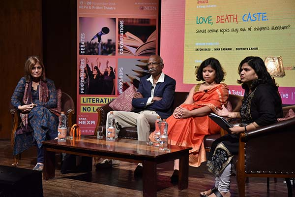 First session of day 4 of the Tata Literature Live! The Mumbai LitFest pays tribute to Indian soldiers