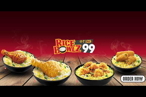 Pick your favorite KFC Rice Bowlz at INR 99/-