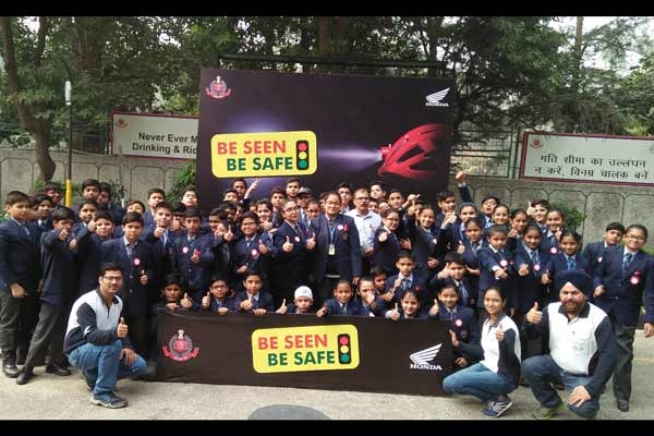 Honda Celebrates Children's Day Conducts unique 'Be-Seen-Be Safe' Campaign