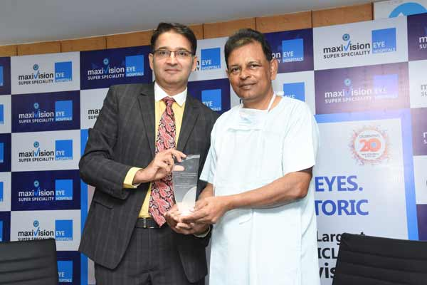 MaxiVision Super Specialty Eye Hospitals Founder Dr.Kasu Prasad Reddy honoured with prestigious ICL award