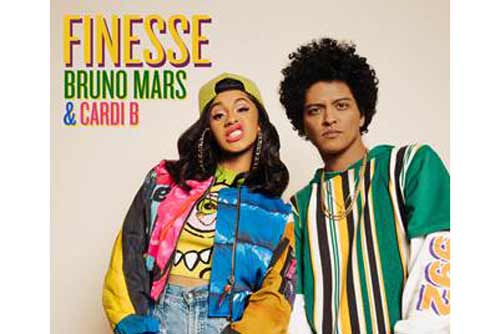 "BRUNO MARS AND CARDI B ARE DRIPPIN' IN ""FINESSE"" ON NEW REMIX COLLABORATION"