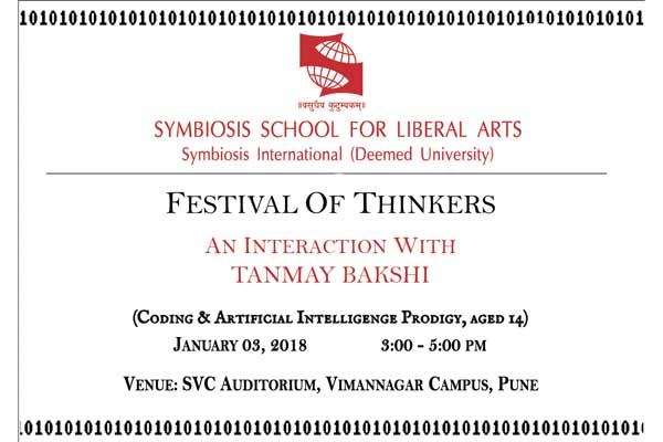 """A note on """"Tanmay Bakshi Event"""" scheduled on 3rd January 2018."""