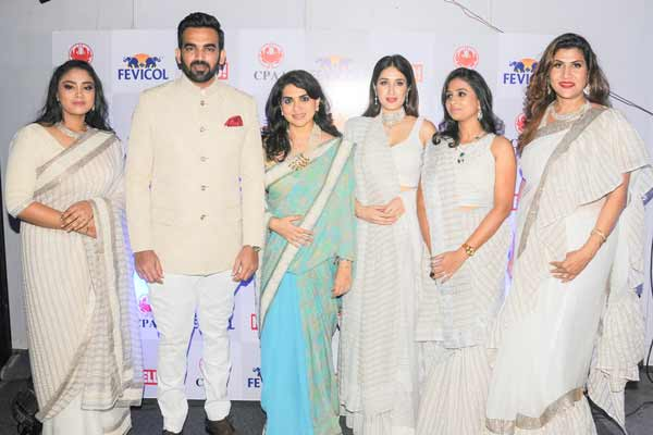 Dr. Nivedita Shreyans Educationist and meditation and wellness expert walked the ramp for Shaina  NC in aid of Cancer association