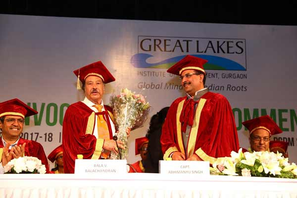 GREAT LAKES INSTITUTE OF MANAGEMENT, GURGAON CONVOCATION 2018 PRESIDED OVER BY CAPTAIN ABHIMANYU SINGH, CABINET MINISTER, HARYANA AND SUMANT SINHA, CHAIRMAN  & CEO, RENEW POWER