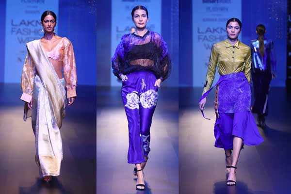 The Platform By Smartwater Unveils Superb Creations By Three Innovative Designers At Lakme Fashion Week Winter Festive 2018 Nrinews24x7