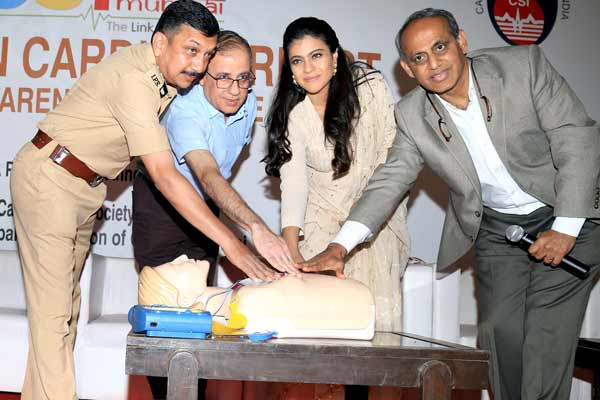 Kajol launched Sudden Cardiac Arrest Awareness Initiative by CSI2018 & MCGM at NSCI, Worli