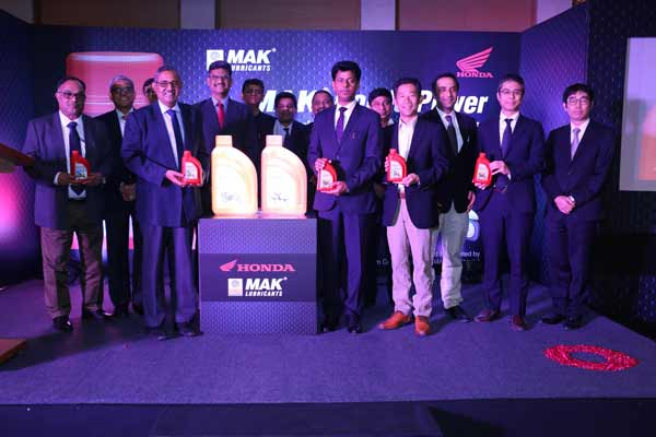Honda 2Wheelers India partners with MAK Lubricants to launch 'MAK Honda Power' Engine Oil
