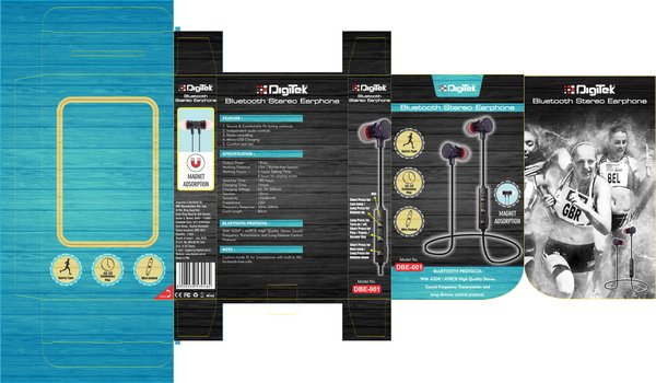 Digitek Launches Bluetooth Stereo Earphones For Music During Workouts