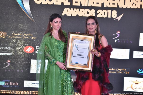 ACE MAKEOVER EXPERT MALLIKA GAMBHIR BAGS PRESTIGIOUS AWARD FOR HER CONTRIBUTION IN BEAUTY AND WELLNESS