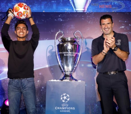 Mumbai witnessed the first fan event with Luis Figo in a series of global initiatives by UEFA