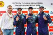 Saurav Bandyopadhyay wins Race 2 after battling hard in Ameo Class Round Two