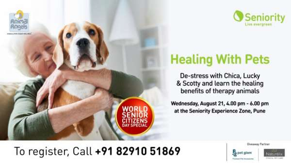"""Seniority to Host """"Healing with Pets"""" on World Senior Citizen Day"""