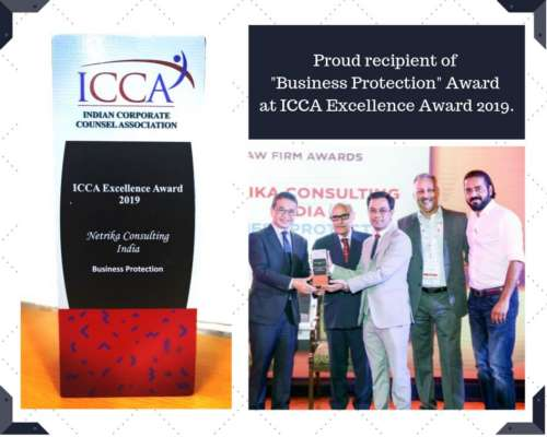 """Netrika Consulting bags """"Business Protection"""" Award at ICCA Excellence Award 2019"""