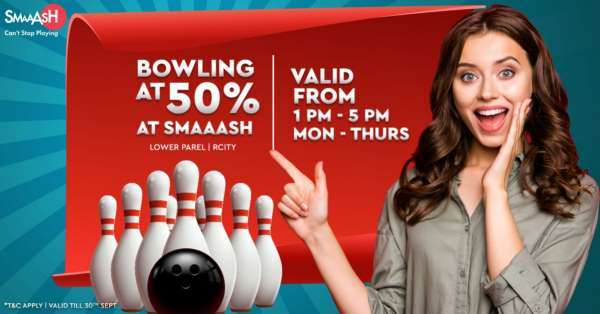 Bowl away your worries at a 50% off with SMAAASH
