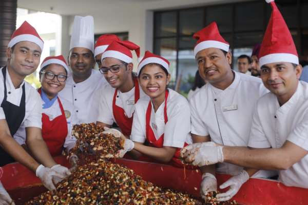 An Enthralling Cake Mixing Ceremony at Sheraton Grand Chennai Resort and Spa!