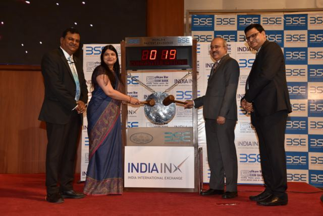 Exim Bank rings bell at INDIA INX with USD 1 bn, 10-year bond listing