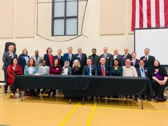 Islamic  Center of Naperville (ICN) brings together  Constituents  from the Muslim Community  and Candidates  running for office in the Primary Elections