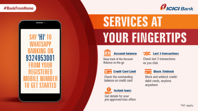 ICICI Bank launches banking services on WhatsApp