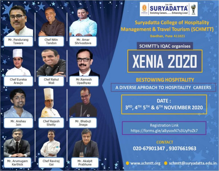 Xenia- Bestowing Hospitality: International Seminar on Hotel Management, Travel and Tourism @Suryadatta Group of Institutes on the backdrop of current global and national developments
