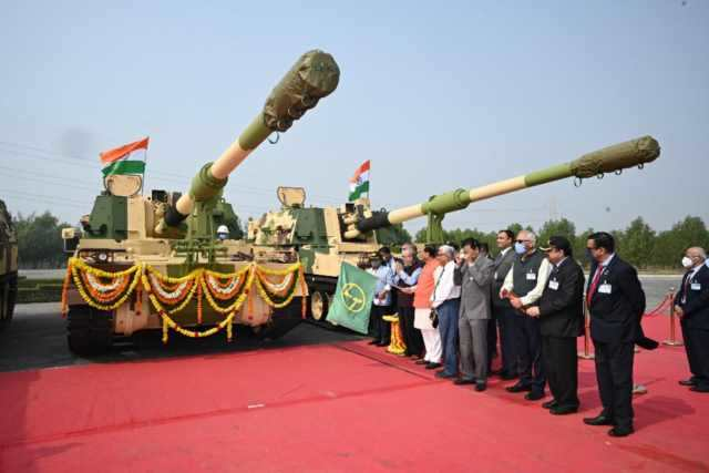 L&T-made 91 K9 Vajra-T Gun flagged off by Gujarat CM at Armoured Systems Complex